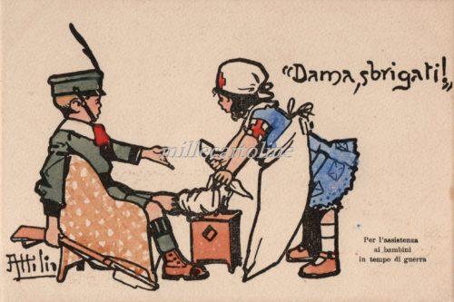 Cartolina Postale WWI Mussino Dama