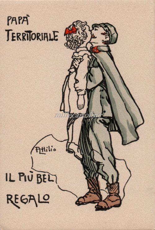 Cartolina Postale WWI Mussino Regalo